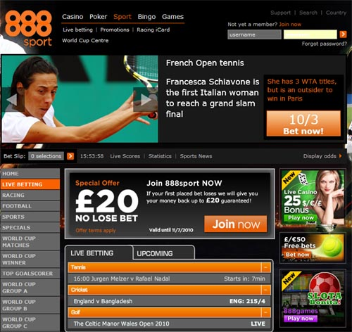 888 20 Free Bet 888 Sport £20 Risk Free Bet